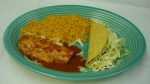 Speedy Gonzales - Taco, enchilada and rice or beans.